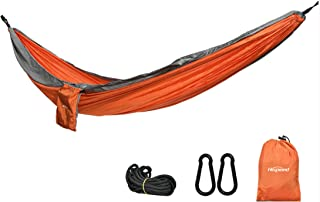 Hamac Balançoire Extérieur Simple Double Anti-Renversement Camping Loisirs 270*140 Orange