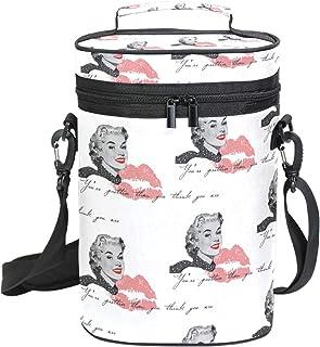 fc4119048b Bennigiry Marilyn Monroe Sac de transport isotherme pour bouteille de vin  avec poignée et bandoulière
