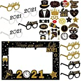 Anyingkai 28pcs Photo Booth Props, Photo Booth Props Birthday, Accessoires Photobooth Noel, Accessoires Photobooth, Accessoires Photo Noël Kit Cadre, Photobooth