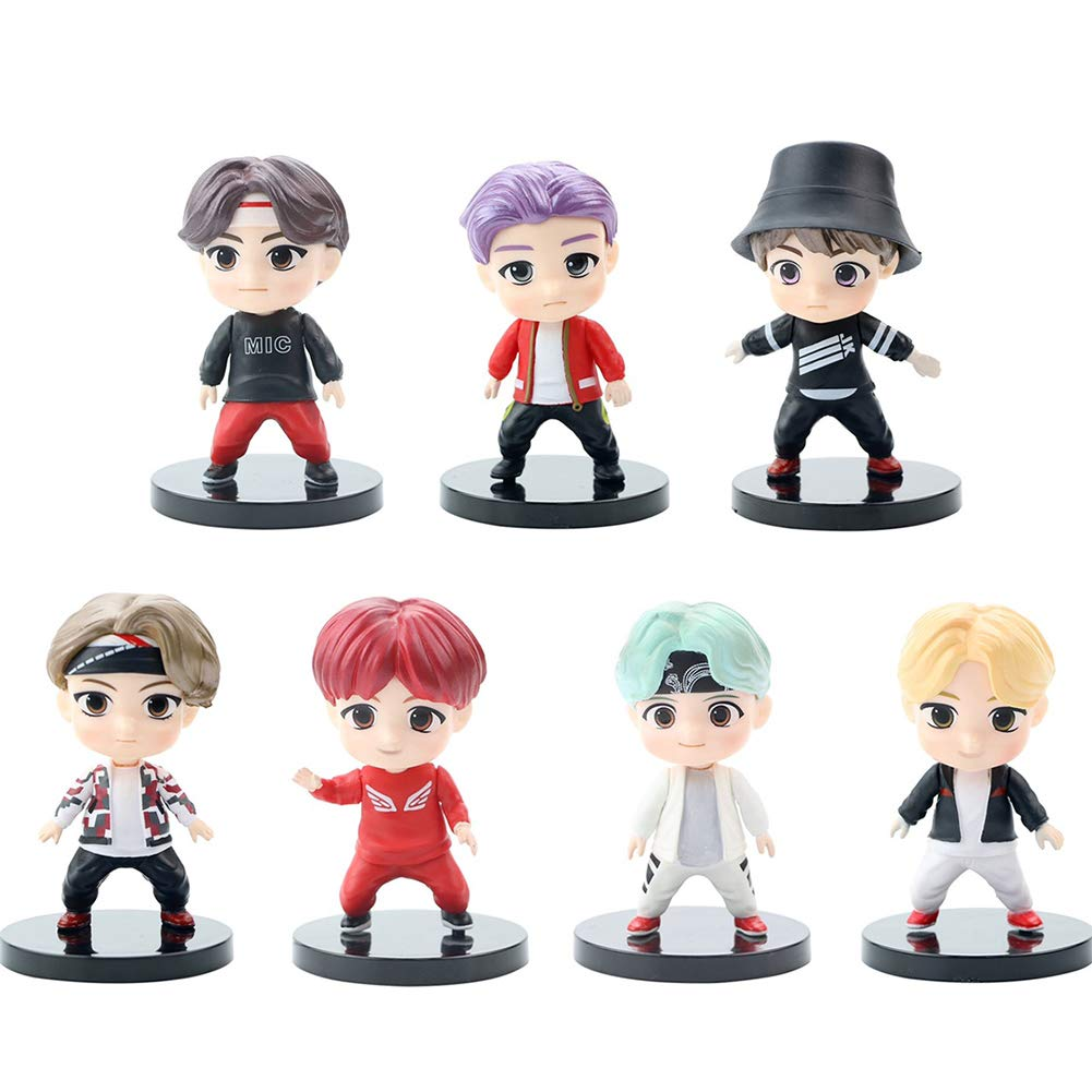 7PCS BTS cake topper fingure Characters set of Action Figure Toys Premium Cake Toppers and Party Favors for BTS party supplier
