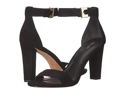 Diane von Furstenberg Chainlink 90 (Black Suede Leather) Women