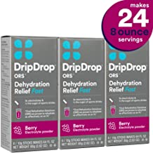 DripDrop Ors - Patented Electrolyte Powder for Dehydration Relief fast - For Heat Exhaustion, Hangover, Illness, Sweating & Travel Recovery, Berry, Individual 10g Sticks, 24Count