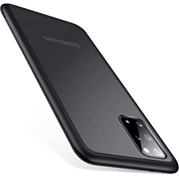 TORRAS Shockproof Galaxy S20 Plus Case/Galaxy S20 Plus 5G Case, [Military Grade Drop Tested] Translucent Matte Hard Back with Soft Edge Slim Protective Designed for Samsung Galaxy S20 Plus Case, Black