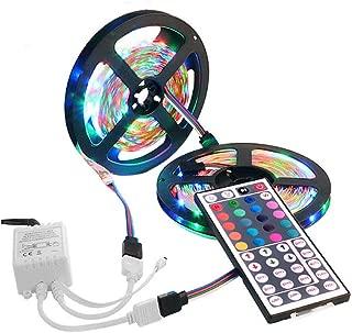 LED Strip Lights, 600 LED Strip Light String Tape+44 Key...