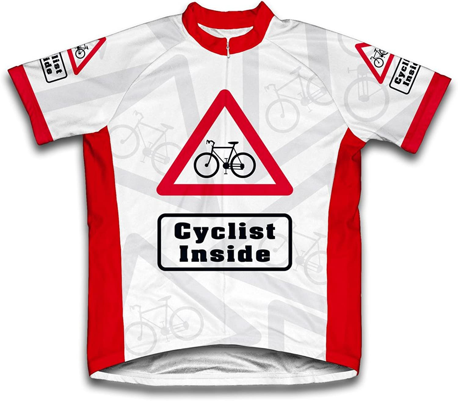 Cyclist Inside Short Sleeve Cycling Jersey for Men