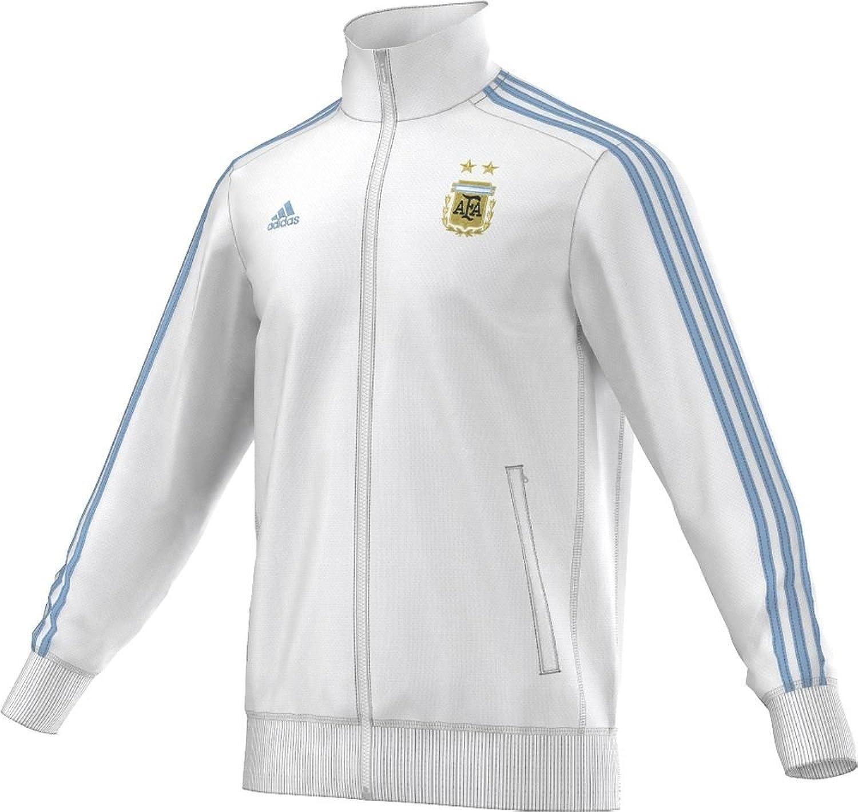 Adidas Herren Silberinien 3Stripes Messi Fußball Track Top XL Weiß-clear blau B01FT19Q3G  Verrückter Preis