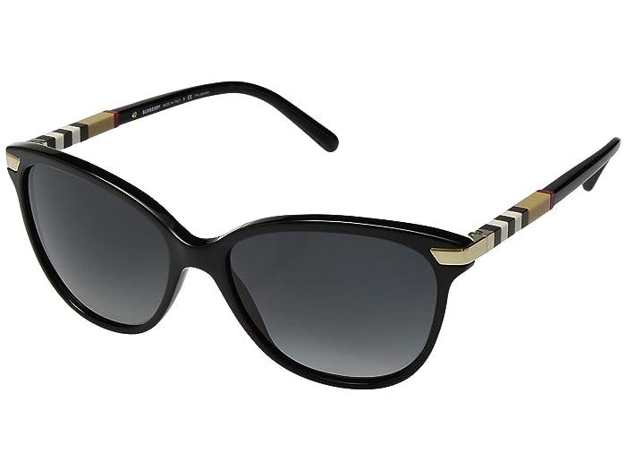 Burberry  0BE4216 (Black/Polarized Grey Gradient) Fashion Sunglasses