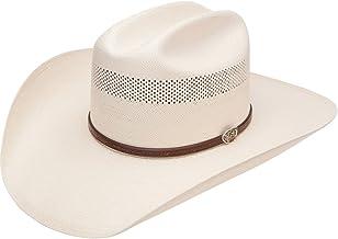 RESISTOL Mens 10X Cross Tie Stran Smith Straw Cowboy Hat