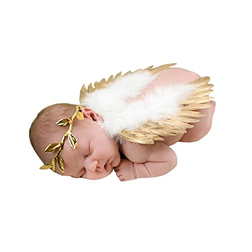 Newborn Baby Foot Band Flower Headband Butterfly Headdress Set Photo Prop 8C