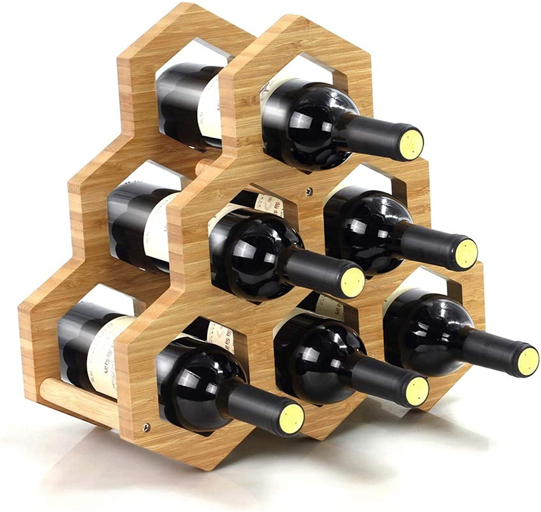 Creative Wine Rack Decoration Solid Wood Wine Rack Home Living Room Wine Bottle Shelf Modern Simple Bamboo Display Stand
