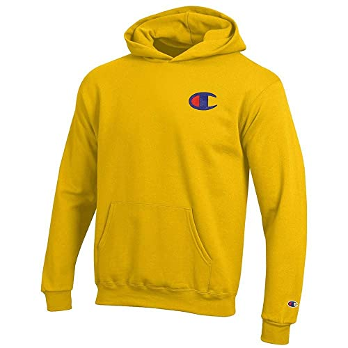 a94d5d78ec1f Champion Reverse Weave Logo Youth (Champion Yellow) Powerblend Pullover  Hoodie