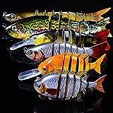 JasCherry Esche da Pesca Multi Snodate Esche Artificiali Esca Affondamento Esca Subacquea Kit di Esche da Pesca per Luccio Branzino Trota Pesce Persico Sgombro