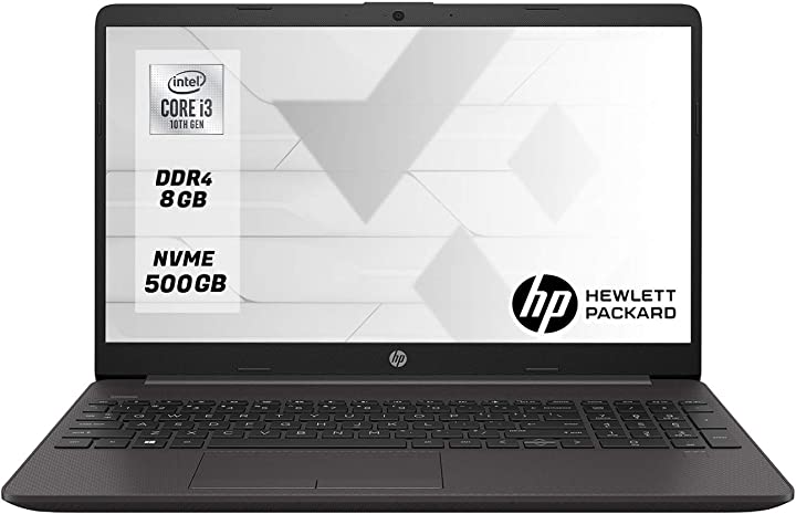 Notebook hp pc portatile intel core i3-1005g1 ram 8gb ddr4 ssd m.2 500 gb display 15.6