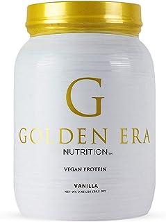 Golden Era Nutrition Organic Plant Based Vegan Protein Powder, Vanilla Flavor, Vegan, Low Net Carbs, Non Dairy, Gluten Free, Lactose Free, No Sugar Added, Soy Free, Kosher, Non-GMO, 2.45 Pounds