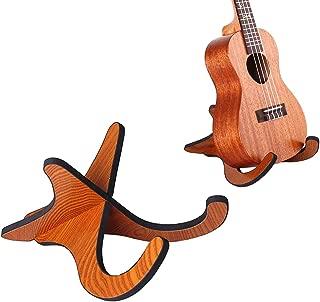 Acronde Portable Folding Wooden Ukelele Stand Holder Concert Musical Instrument Stand for Ukulele Mandolins, Violins