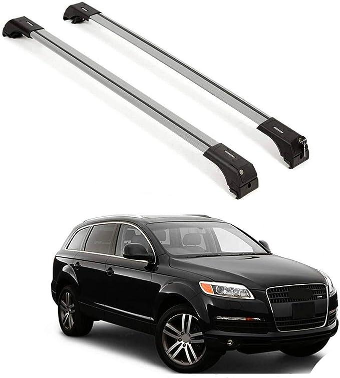 Aluminum Roof Rack Cross Bar Luggage Carrier Silver Set For VW Touareg 2004-2010