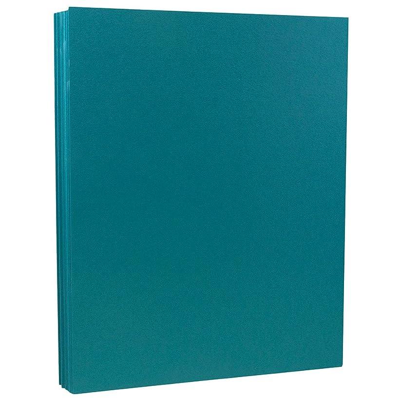 JAM PAPER Matte 80lb Cardstock - 8.5 x 11 Coverstock - Teal Blue - 50 Sheets/Pack