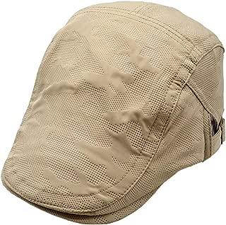 2019 Womens Hats Caps Men Cotton Quilted Mesh Duckbill Adjustable Flat Cap Newsboy Gatsby Irish Summer Hat (Color : Khaki, Size : M)
