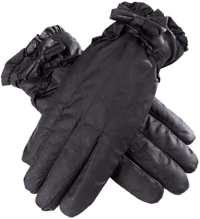 Alien Storehouse Women Winter Thick Gloves Pretty Driving Gloves Skiing Gloves, Black Bowknot