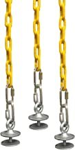 SAFARI SWINGS Fun Outdoor Tire Swing Hardware For Kids & Adults (Includes 3 Eye Bolts, three 6' Long Plastic Coated Chains & a 3