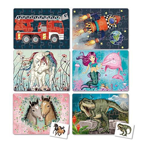 Mauder Verlag Puzzle Set mit 6 Mini-Puzzles - 3 Mädchen- und 3 Jungenmotive - TapirElla
