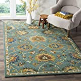 Safavieh Heritage Collection HG651A Handcrafted Traditional Light Blue Premium Wool Area Rug (8' x 10')