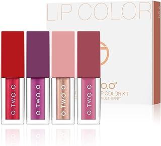 4Colors/Set Liquid Lip gloss Matte Lipstick Waterproof Soft Glossy Shimmering&Matte Liquid Lipstick