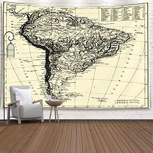 YUMNKJHGFRT Quotthe Bilderatlasquot von F a Brockhaus Atlas Wandbehang Wandteppich für Schlafzimmer, Wandteppich Wohnzimmer