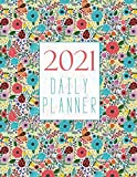 2021 daily planner: Organizer with To-Do's, hourly appointment notebook, calendar & 365 days diary.