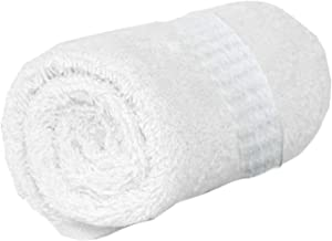 """Kuber Industries Cotton 400 GSM Full Size Bath Towel 60x30"""" (White)"""