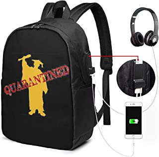 REECECAM Class of 2020 Quarantined Senior USB Backpack 17-Inch Laptop Backpack Firm Bottom Men's and Women's Large School Bag College School Backpacks