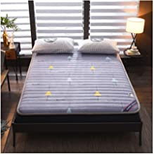 Tatami Mattress, Tatami Warm Thick Bedroom Mattress Keep Warm in Winter Single Student Dormitory High and Low Bed Sponge M...
