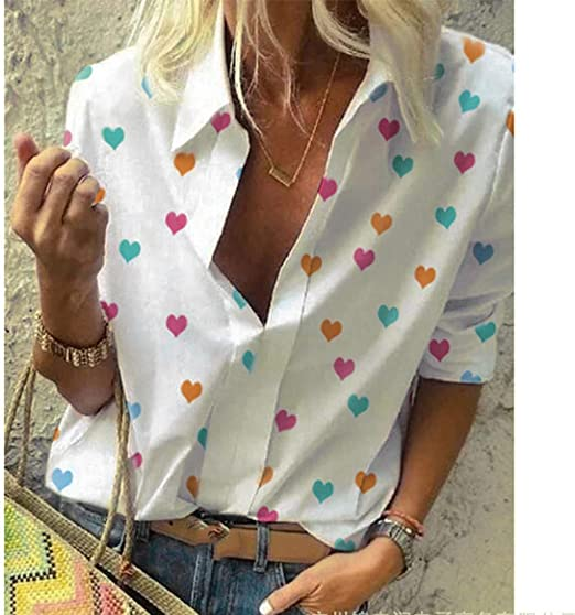 Camisas Mujer, Moda Camisa De Manga Larga Estampada A ...