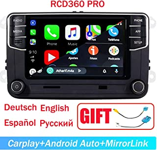 "6.5"" Car Stereo OEM MIB2 RCD360 Pro RCD330 Carplay Androidauto Bluetooth RVC SD-Card Touchscreen for VW Jetta Tiguan Passa..."