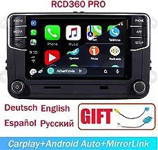 "SCUMAXCON 6.5"" Car Stereo OEM MIB2 RCD360 Pro Carplay Androidauto Bluetooth RVC SD-Card Touchscreen for VW Jetta Tiguan Pa..."