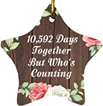 29th Anniversary 10,592 Days Together Who's Counting - Star Wood Ornament A Christmas Tree Hanging Decor - for Wife Husban...