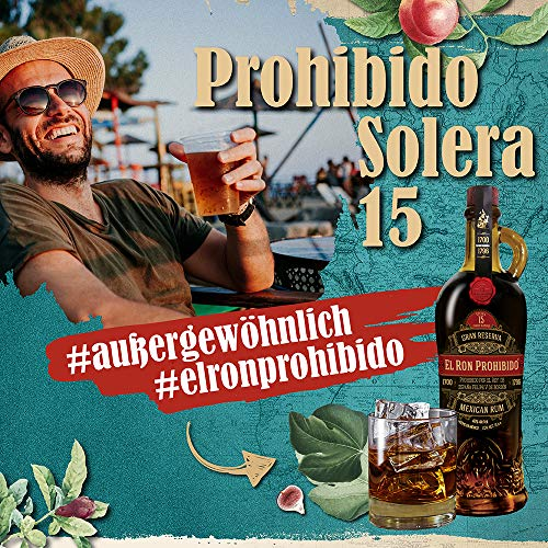 El Ron Prohibido 15 Years Old Solera Finest Blended Mexican Rum Reserva (1 x 0.7 l) - 6