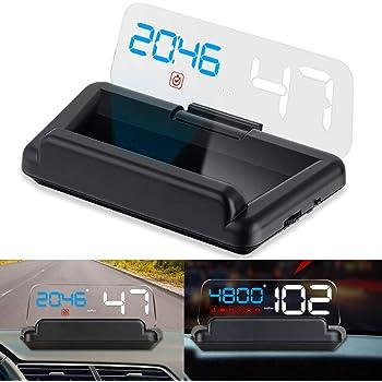 iKiKin Car Head Display Up OBD2 con Panel de reflexión Sin Doble ...