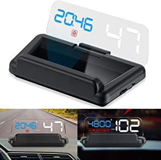 Head Up Display for Car, iKiKin Head Up Display OBD2 with Reflection Board No Double Image Stereo Projecting Display Speed...