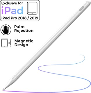 Stylus Pen for iPad with Palm Rejection, iPad Pencil with Magnetic Design Compatible with Apple iPad 6th 7th Gen/iPad Pro 3rd Gen/iPad Mini 5th Gen/iPad Air 3rd Gen, Rechargeable Active Stylus