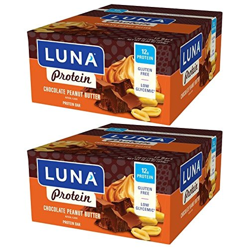 LUNA PROTEIN - Gluten Free Protein Bar - Chocolate Peanut Butter - (1.59 Ounce Snack Bar, 24 Count)