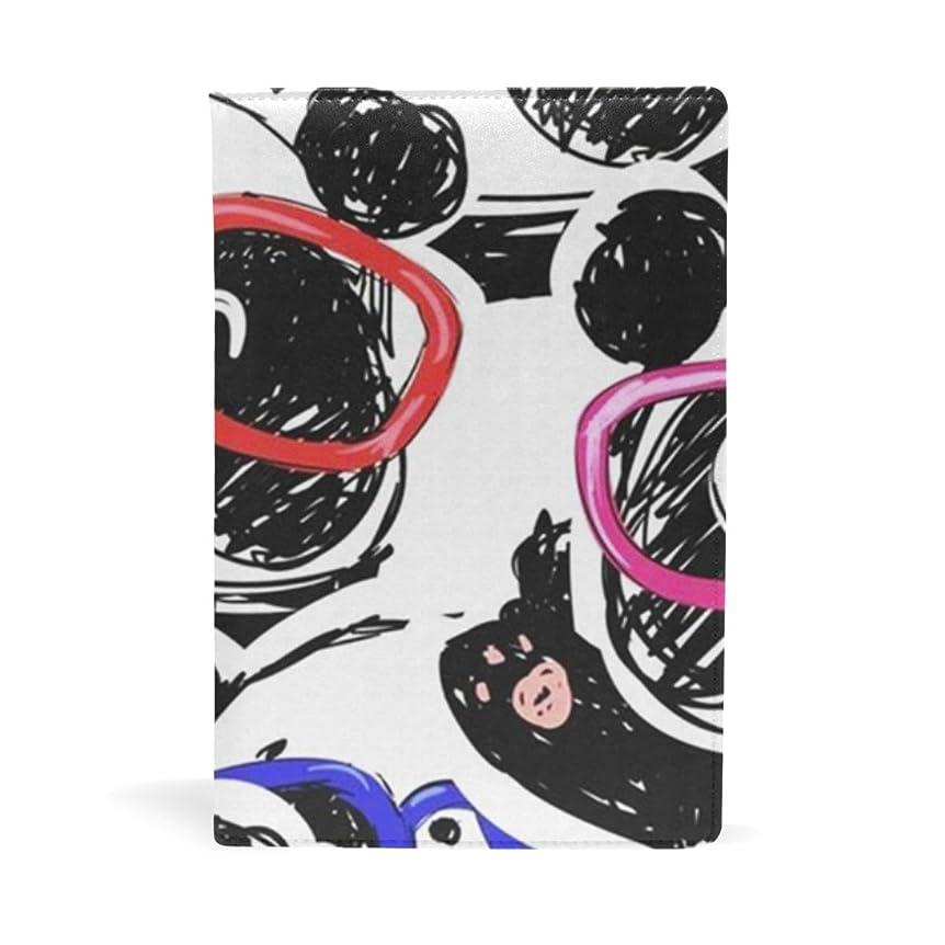 最悪スラッシュ半球可愛いのパンダ (2) ブックカバー 文庫 a5 皮革 おしゃれ 文庫本カバー 資料 収納入れ オフィス用品 読書 雑貨 プレゼント耐久性に優れ