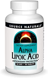 Source Naturals Alpha Lipoic Acid 50 mg Supports Healthy Sugar Metabolism, Liver Function & Energy Generation - 50 Tablets