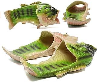 YXX Poisson Pantoufles Chaussons De Plage D'été Créatif Soft Creative Shower Sandals Men Casual Waterproof Slides Beach Pa...