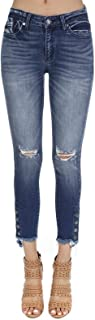 Women's Mid Rise Destroyed Skinny Jeans KC8384