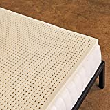 Pure Green 100% Natural Latex Mattress Topper - Soft - 2 Inch - Queen...