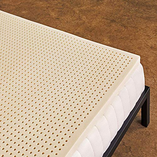 Pure Green 100% Natural Latex Mattress Topper - Soft - 2...