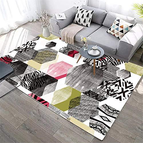 alfombras lisas decoracion habitacion bebe La combinación de colores geométricos de la alfombra rectangular del dormitorio de la sala de estar no se desvanece ni se deforma habitaciones matrimonio com