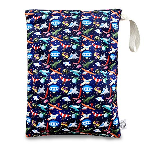 Washable and Reusable Wet Bag, Diaper Bag, Water Resistant Swimming Bag, Travel Toiletries Pouch, Yoga Gym Bag, Airplane 1 Pcse 12.6'' x 16.5''