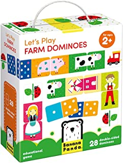 Banana Panda - Let s Play Farm Dominoes - Classic Kids Game with Three Ways to Play for Ages 2 Years and Up
